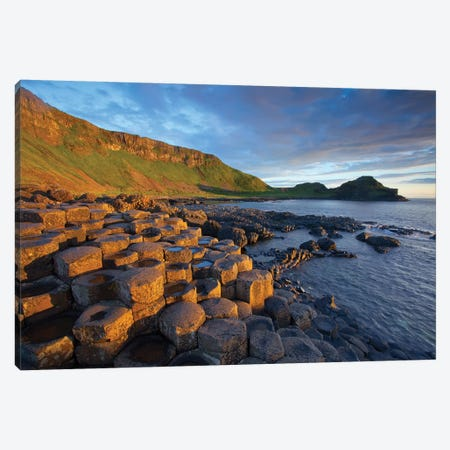 Evening Light I, Giant's Causeway, Co Antrim, Northern Ireland Canvas Print #GAR145} by Gareth McCormack Canvas Print