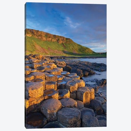 Evening Light II, Giant's Causeway, Co Antrim, Northern Ireland Canvas Print #GAR146} by Gareth McCormack Art Print