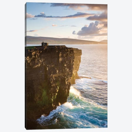 Coastal Landscape, Downpatrick Head, County Mayo, Connacht Province, Republic Of Ireland Canvas Print #GAR15} by Gareth McCormack Canvas Artwork