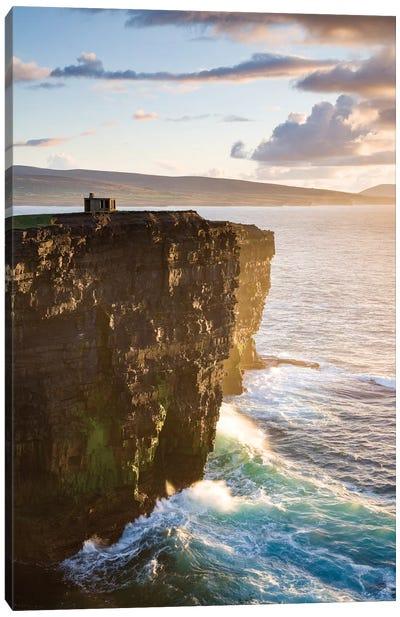 Coastal Landscape, Downpatrick Head, County Mayo, Connacht Province, Republic Of Ireland Canvas Art Print