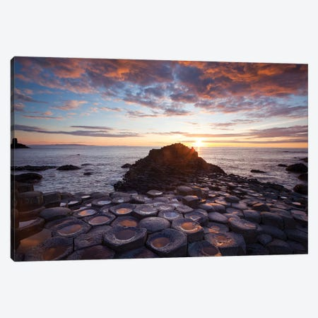 Mid-Summer Sunset I, Giant's Causeway, Co Antrim, Northern Ireland Canvas Print #GAR160} by Gareth McCormack Canvas Art