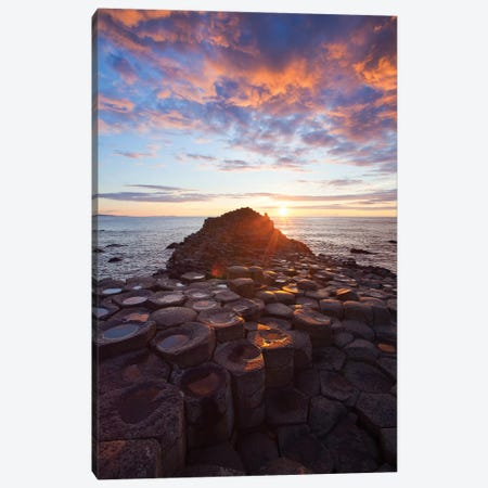 Mid-Summer Sunset II, Giant's Causeway, Co Antrim, Northern Ireland 3-Piece Canvas #GAR161} by Gareth McCormack Canvas Artwork