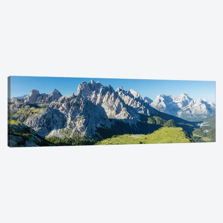 Monte Cristallo And Cadini Di Misurina Mountains, Sexten Dolomites, Italy Canvas Print #GAR162} by Gareth McCormack Canvas Art