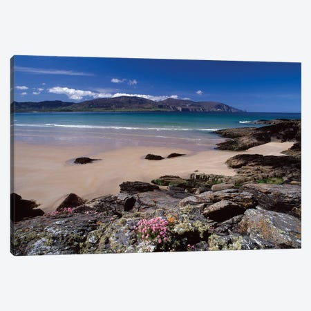 Coastal Landscape, Tramore Strand, Rosbeg, County Donegal, Ulster Province, Repiblic Of Ireland Canvas Print #GAR16} by Gareth McCormack Canvas Artwork