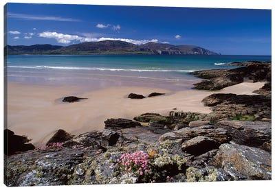 Coastal Landscape, Tramore Strand, Rosbeg, County Donegal, Ulster Province, Repiblic Of Ireland Canvas Print #GAR16