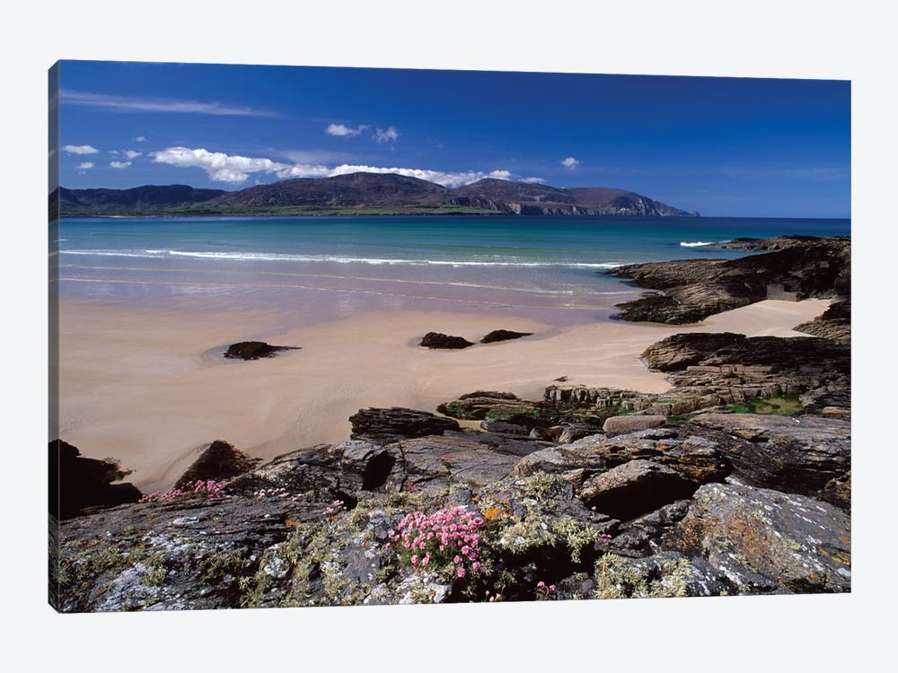 Coastal Landscape, Tramore Strand, Rosbeg, County Donegal, Ulster Province, Repiblic Of Ireland by Gareth McCormack 1-piece Canvas Artwork