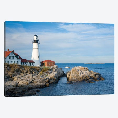 Portland Head Lighthouse, Maine, New England, USA Canvas Print #GAR170} by Gareth McCormack Canvas Print