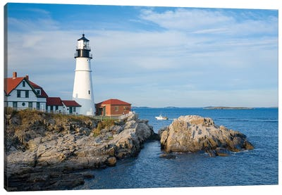 Portland Head Lighthouse, Maine, New England, USA Canvas Art Print