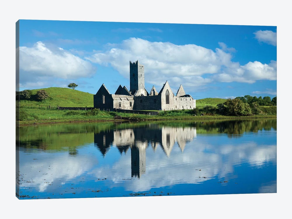 Reflection Of Rosserk Abbey In The River Moy I, County Mayo, Ireland by Gareth McCormack 1-piece Art Print