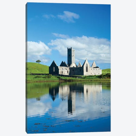 Reflection Of Rosserk Abbey In The River Moy II, County Mayo, Ireland Canvas Print #GAR174} by Gareth McCormack Canvas Wall Art