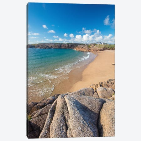 Sandy Cove In Traderg Bay I, Cruit Island, The Rosses, County Donegal, Ireland Canvas Print #GAR176} by Gareth McCormack Canvas Wall Art