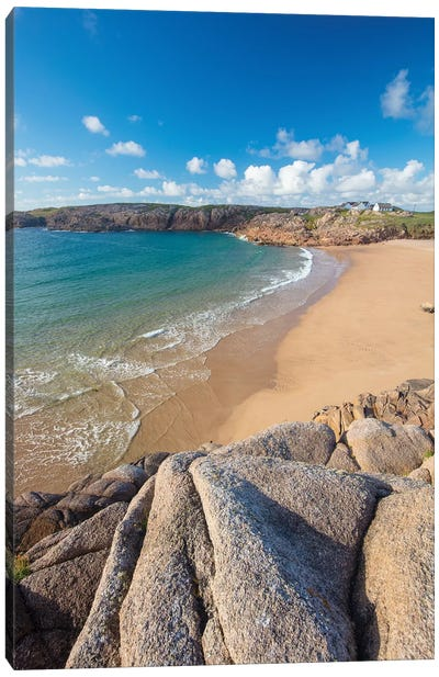 Sandy Cove In Traderg Bay I, Cruit Island, The Rosses, County Donegal, Ireland Canvas Art Print