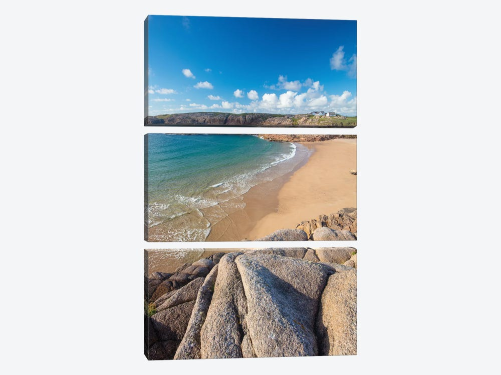 Sandy Cove In Traderg Bay I, Cruit Island, The Rosses, County Donegal, Ireland by Gareth McCormack 3-piece Canvas Art
