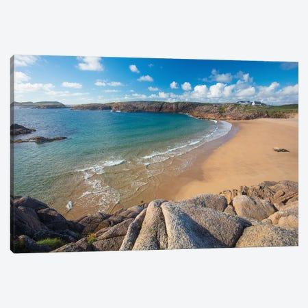 Sandy Cove In Traderg Bay II, Cruit Island, The Rosses, County Donegal, Ireland Canvas Print #GAR177} by Gareth McCormack Canvas Wall Art