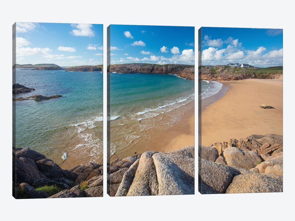 Sandy Cove In Traderg Bay II, Cruit Island, The Rosses, County Donegal, Ireland by Gareth McCormack 3-piece Canvas Print