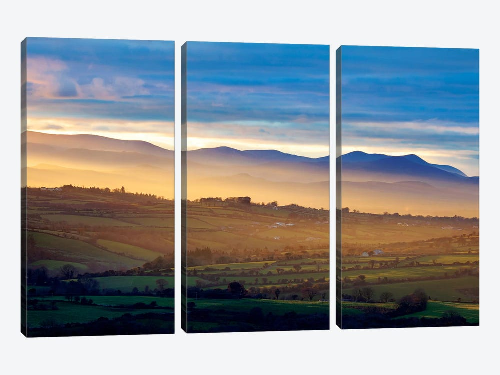 Countryside Landscape I, Near Killarney, County Kerry, Munster Province, Republic Of Ireland by Gareth McCormack 3-piece Art Print