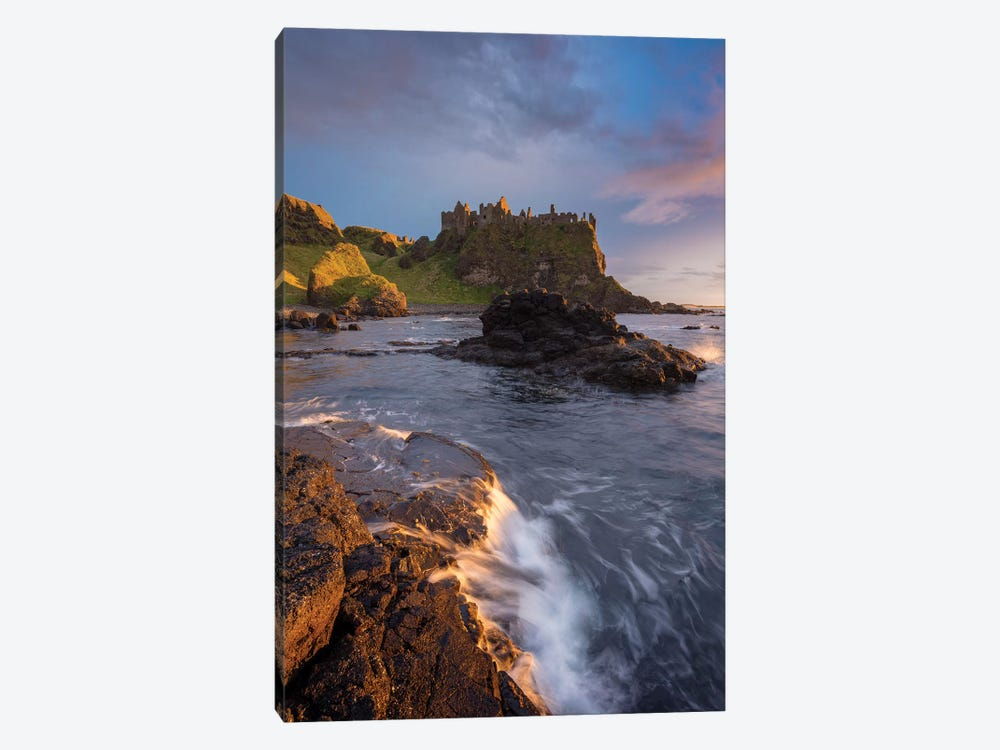 Sunset Beneath Dunluce Castle II, County Antrim, Northern Ireland by Gareth McCormack 1-piece Canvas Wall Art