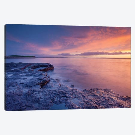 Sunset Over Killala Bay, County Sligo, Ireland Canvas Print #GAR184} by Gareth McCormack Canvas Print