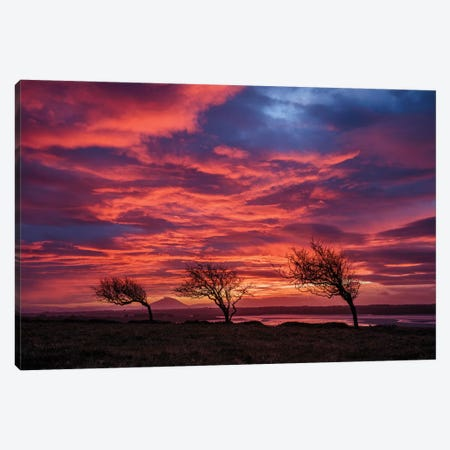 Sunset Over The Moy Estuary I, County Sligo, Ireland Canvas Print #GAR185} by Gareth McCormack Canvas Art Print