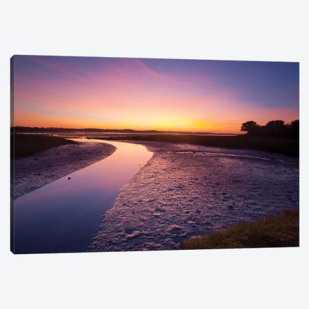 Sunset Over The River Moy Tidal Flats II, County Sligo, Ireland Canvas Print #GAR188} by Gareth McCormack Canvas Wall Art