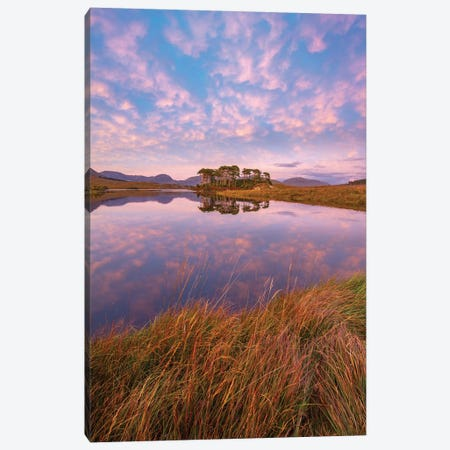 Sunset Reflections In Derryclare Lough I, Connemara, County Galway, Ireland 3-Piece Canvas #GAR190} by Gareth McCormack Art Print