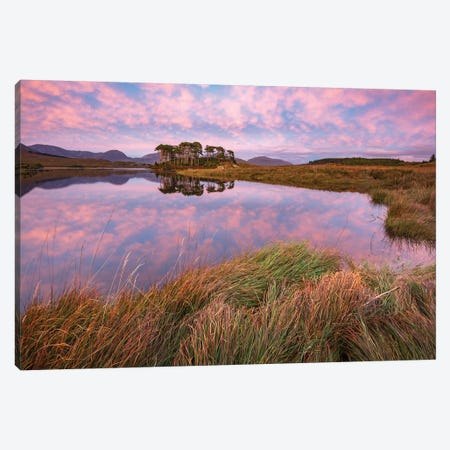 Sunset Reflections In Derryclare Lough II, Connemara, County Galway, Ireland Canvas Print #GAR191} by Gareth McCormack Canvas Art Print