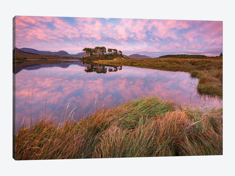 Sunset Reflections In Derryclare Lough II, Connemara, County Galway, Ireland by Gareth McCormack 1-piece Canvas Print
