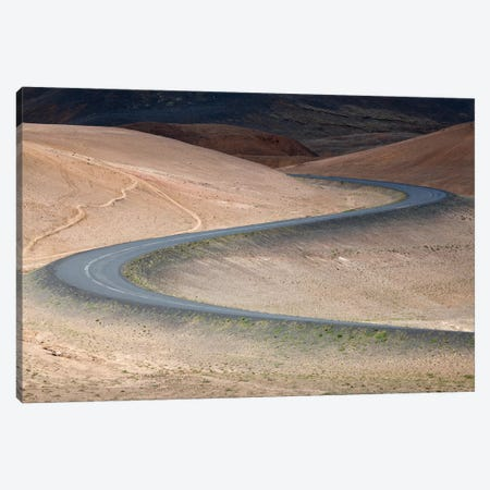 Switchbacks As The Ring Road Descends Volcanic Hills, Hverir, Myvatn, Iceland Canvas Print #GAR192} by Gareth McCormack Canvas Art Print