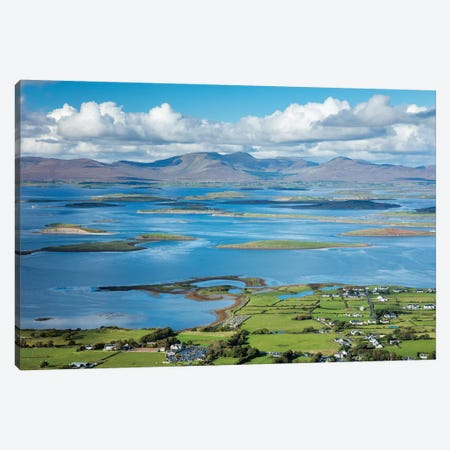 View Across Clew Bay From The Summit Of Croagh Patrick, County Mayo, Ireland Canvas Print #GAR195} by Gareth McCormack Canvas Wall Art