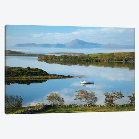 View Across Clew Bay To Croagh Patrick I, County Mayo, Ireland Canvas Print #GAR196} by Gareth McCormack Canvas Wall Art