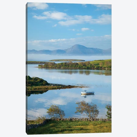 View Across Clew Bay To Croagh Patrick II,County Mayo, Ireland Canvas Print #GAR197} by Gareth McCormack Canvas Artwork