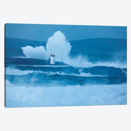 Crashing Waves I, Broadhaven Bay, County Mayo, Connact Province, Republic Of Ireland Canvas Print #GAR19} by Gareth McCormack Canvas Print