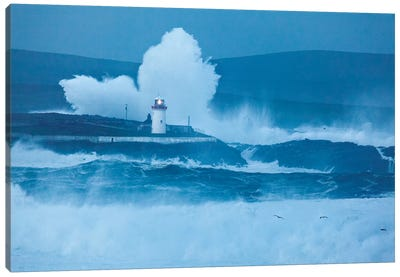 Crashing Waves I, Broadhaven Bay, County Mayo, Connact Province, Republic Of Ireland Canvas Art Print