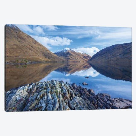 Winter Reflections, Doolough, County Mayo, Ireland Canvas Print #GAR200} by Gareth McCormack Canvas Print