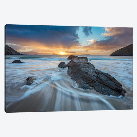 Winter Sunrise I, Keem Bay, Achill Island, County Mayo, Ireland Canvas Print #GAR201} by Gareth McCormack Canvas Print
