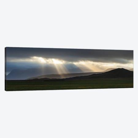 Iceland Highlands, Light Burst Canvas Print #GAR205} by Gareth McCormack Canvas Wall Art