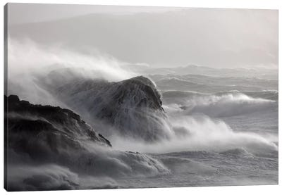 Crashing Waves I, County Mayo, Connacht Province, Republic Of Ireland Canvas Art Print