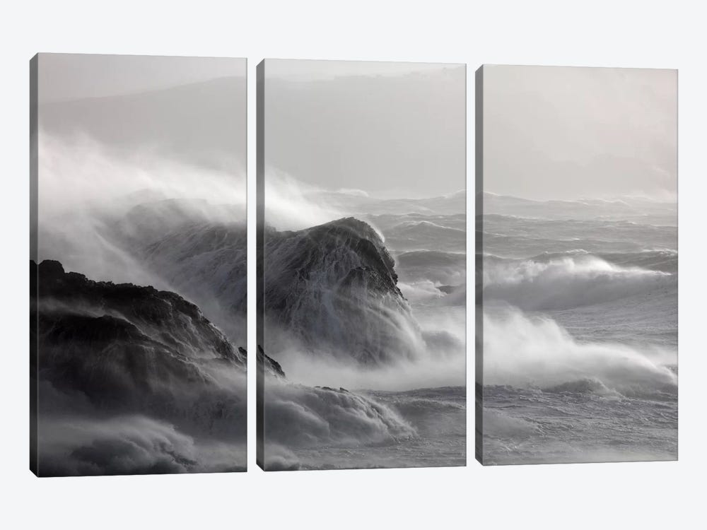 Crashing Waves I, County Mayo, Connacht Province, Republic Of Ireland by Gareth McCormack 3-piece Canvas Print