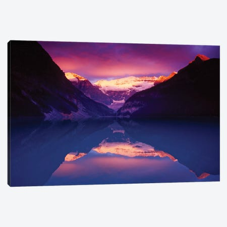 Lake Louise Dawn Canvas Print #GAR213} by Gareth McCormack Canvas Artwork