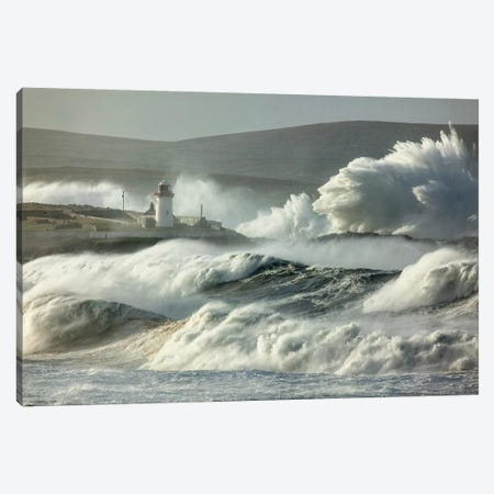 Crashing Waves II, Broadhaven Bay, County Mayo, Connact Province, Republic Of Ireland Canvas Print #GAR21} by Gareth McCormack Canvas Artwork