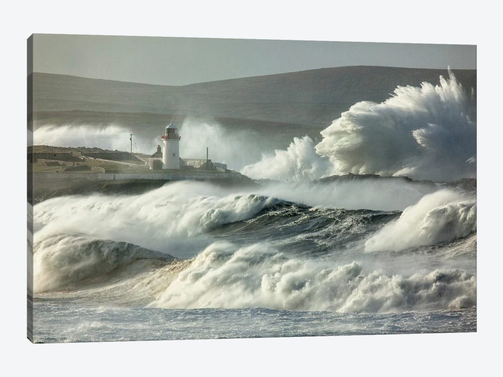 Crashing Waves II, Broadhaven Bay, County Mayo, Connact Province, Republic Of Ireland 1-piece Canvas Art