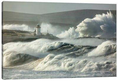 Crashing Waves II, Broadhaven Bay, County Mayo, Connact Province, Republic Of Ireland Canvas Art Print