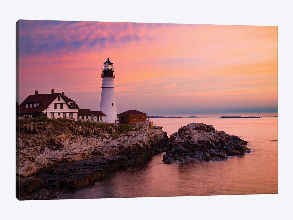 Dawn, Portland Lighthouse, Maine by Gareth McCormack 1-piece Canvas Artwork