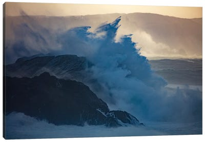 Crashing Waves II, County Mayo, Connacht Province, Republic Of Ireland Canvas Art Print