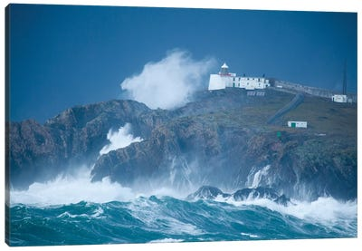 Crashing Waves, Eagle Island, Belmullet, County Mayo, Connacht Province, Republic Of Ireland Canvas Art Print