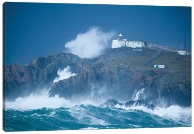 Crashing Waves, Eagle Island, Belmullet, County Mayo, Connacht Province, Republic Of Ireland Canvas Art Print