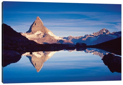 Dawn Reflection Of Matterhorn, Riffelsee, Canton Of Valais, Switzerland Canvas Print #GAR29