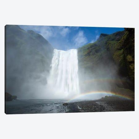 Double Rainbow, Skogafoss, Skogar, Sudurland, Iceland Canvas Print #GAR33} by Gareth McCormack Art Print