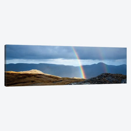 Double Rainbow, Twelve Bens, Connemara, County Galway, Connacht Province, Republic Of Ireland Canvas Print #GAR34} by Gareth McCormack Canvas Artwork