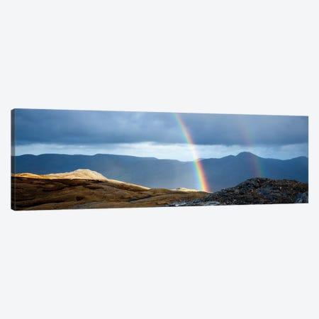Double Rainbow, Twelve Bens, Connemara, County Galway, Connacht Province, Republic Of Ireland Canvas Print #GAR34} by Gareth McCormack Canvas Artwork